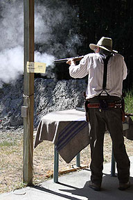 Shooting with Black Powder at The Pig War