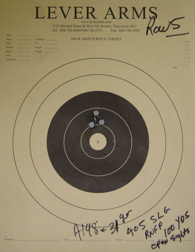 Target with 45-70 Grouping